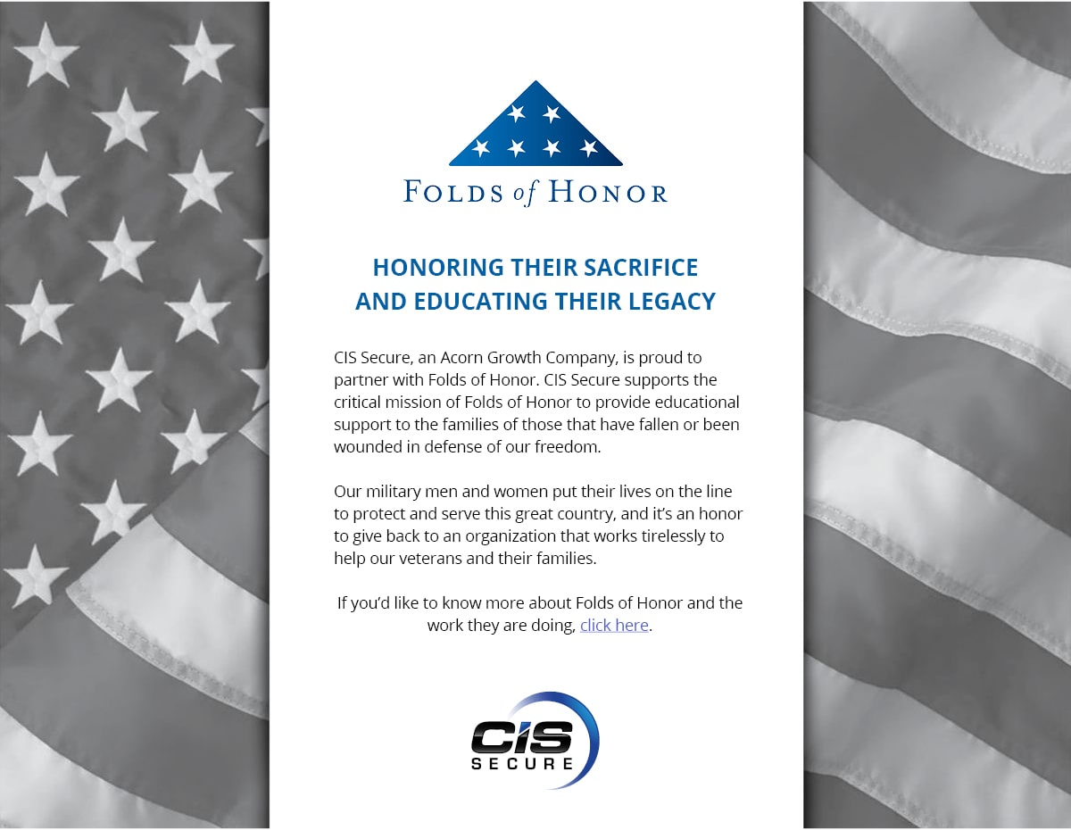 CIS Secure Partnership with Folds of Honor